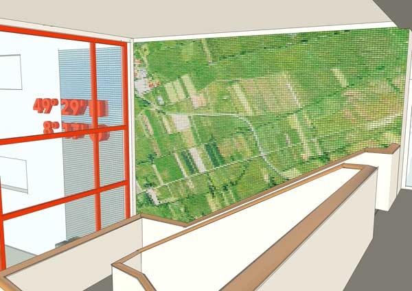 Feldermosaik als graphisches Element